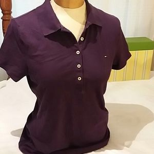 Tommy Hilfiger purple polo, sz. Med, GUC